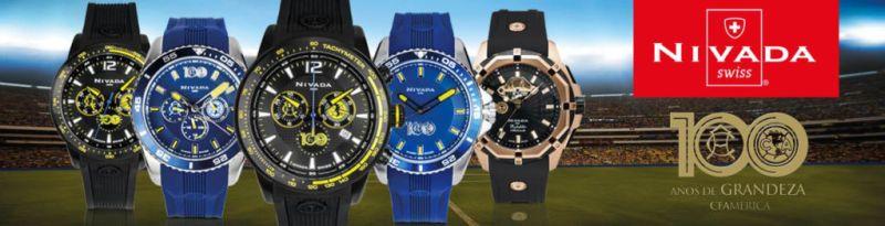 Nivada y El Club América presentan reloj conmemorativo 100 años - clubamerica_nivada-800x205