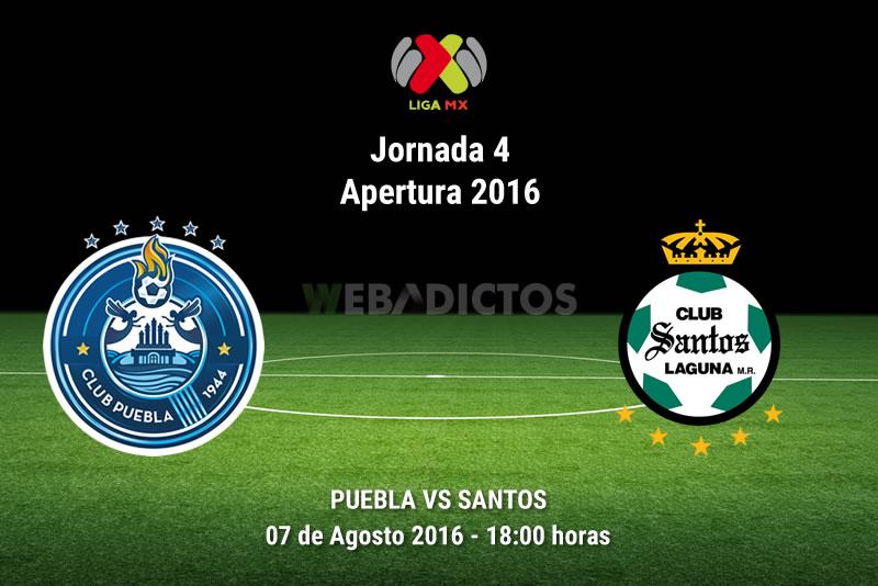 Puebla vs Santos, Jornada 4 del Apertura 2016   Resultado: 0-0 - puebla-vs-santos-apertura-2016
