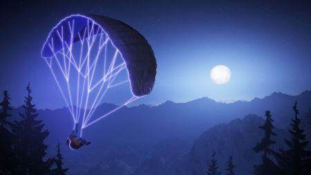Steep: título deportivo y de acción, saldrá a la venta el 2 de diciembre - steep_night_paraglide_vista