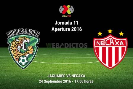 Jaguares vs Necaxa, Jornada 11 del Apertura 2016 | Resultado: 2-2