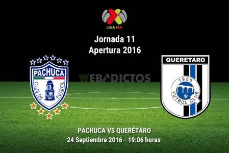Pachuca vs Querétaro, Jornada 11 del Apertura 2016 | Resultado: 2-0