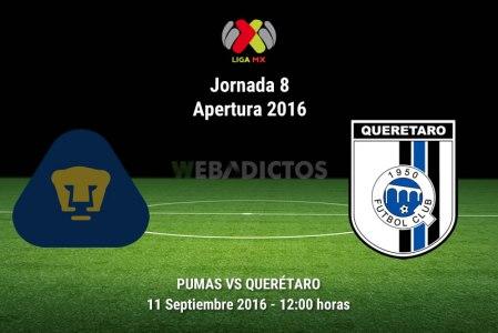 Pumas vs Querétaro, Jornada 8 del Apertura 2016