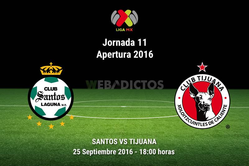 Santos vs Tijuana en la Jornada 11 del Apertura 2016 | Resultado: 1-2 - santos-vs-tijuana-apertura-2016