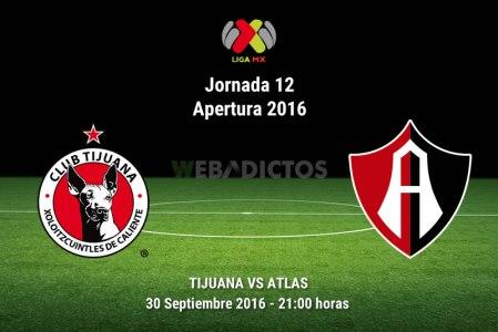 Xolos de Tijuana vs Atlas, J12 Apertura 2016 ¡En vivo por internet!
