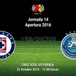 Cruz Azul vs Puebla, Jornada 14 Apertura 2016 ¡En vivo por internet!