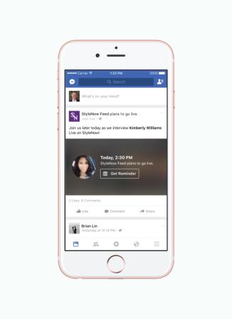 Facebook ya permite programar videos en vivo a través de LIVE API