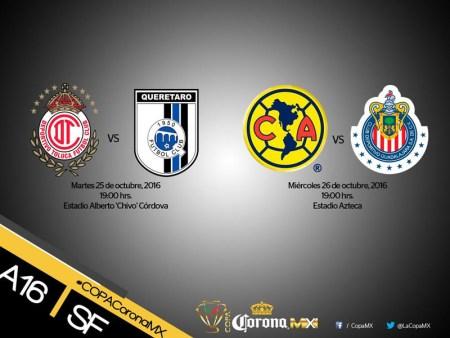 Ya hay hora para el clásico América vs Chivas en la semifinal de la Copa MX A2016