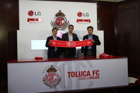 LG colabora como socio tecnológico del Deportivo Toluca FC
