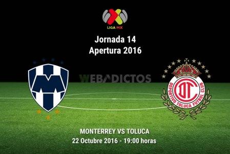 Monterrey vs Toluca, Fecha 14 del Apertura 2016 ¡En vivo por internet!