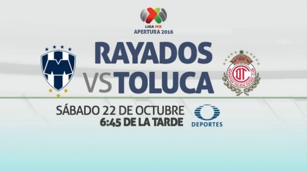 Monterrey vs Toluca, Fecha 14 del Apertura 2016   Resultado: 1-1 - monterrey-vs-toluca-televisa-deportes-apertura-2016