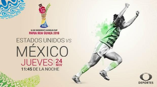 México vs Estados Unidos, Femenil Sub 20 2016 | Resultado: 1-2 - mexico-vs-usa-femenil-sub-20-en-vivo-2016