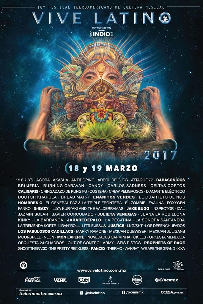 Anuncian cartel del Vive Latino 2017 - vive-latino-2017-poster-cartel