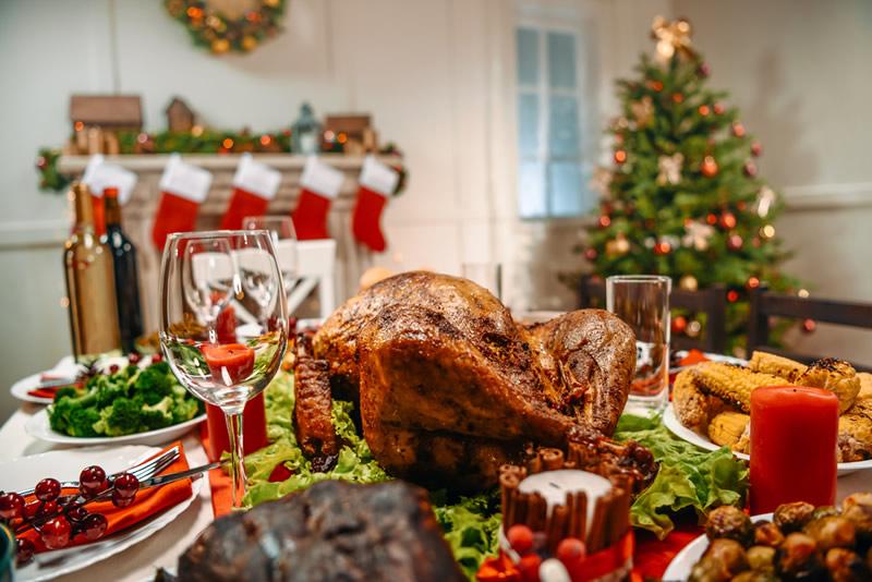 En Navidad Chistosa Del Pavo Imagen