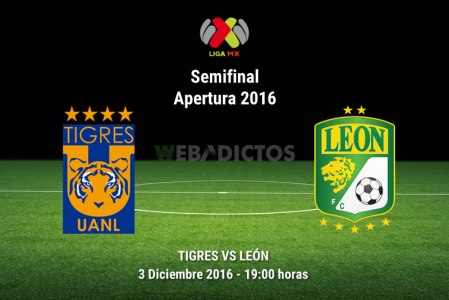 Tigres vs León, Semifinal del Apertura 2016 ¡En vivo por internet!