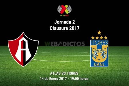 Atlas vs Tigres, Fecha 2 del Clausura 2017 | Resultado: 2-0