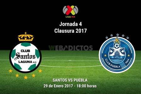 Santos vs Puebla, Jornada 4 del Clausura 2017 | Resultado: 2-0