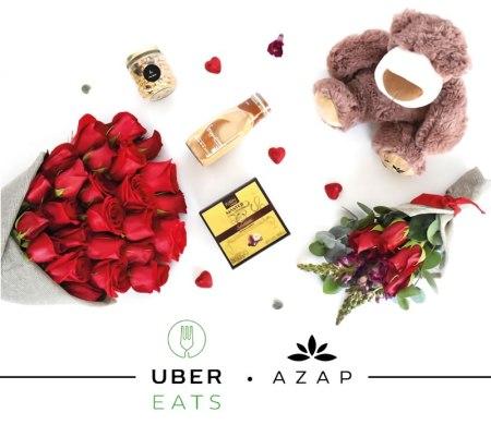 Envía flores y regalos con UberEATS en San Valentín
