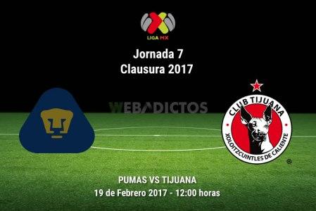 Pumas vs Tijuana, Jornada 7 Clausura 2017 ¡En vivo por internet!