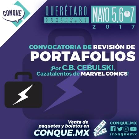 CONQUE 2017: Convocatoria de revisión de portafolios por cazatalentos de Marvel