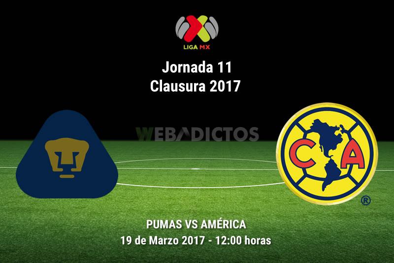 Pumas vs América, Jornada 11 del Clausura 2017 | Resultado: 2-3 - pumas-vs-america-j11-clausura-2017