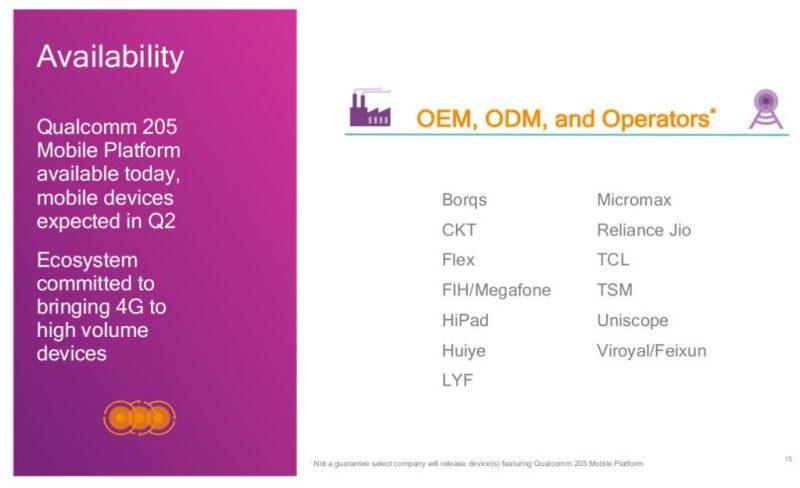 La plataforma Qualcomm 205 busca llevar 4G a todos - qualcomm-205-partners