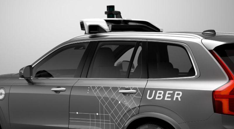 Uber suspende pruebas de coches autónomos debido a accidente - uber-volvo-selfdriving-car