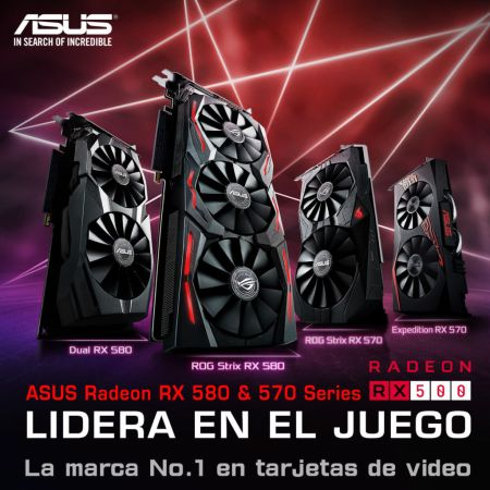 ASUS anuncia tarjetas gráficas Gaming Radeon Serie RX 500