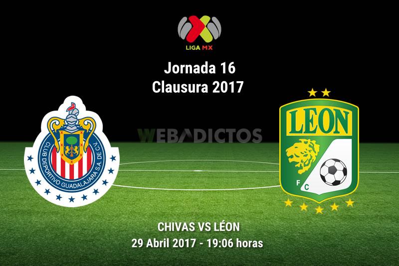 Chivas vs León, Jornada 16 Liga MX Clausura 2017 | Resultado: 1-1 - chivas-vs-leon-j16-clausura-2017