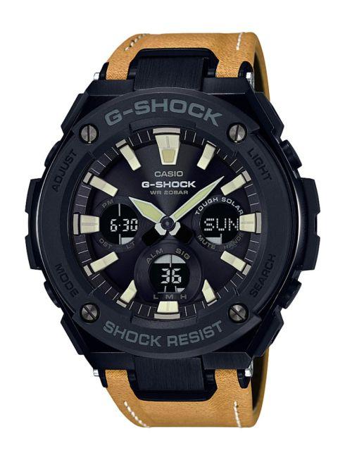 G-Shock por primera vez incorpora extensibles híbridos de piel en su línea G-STEEL - gst-s120l-1b_dr