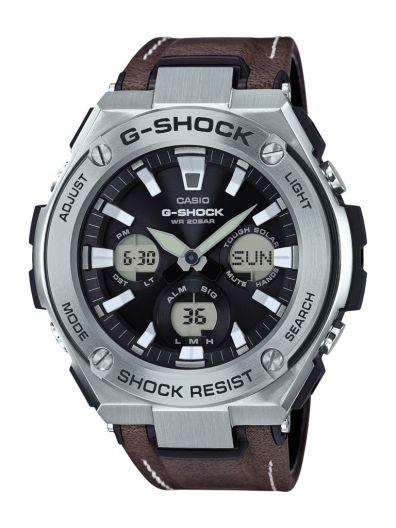 G-Shock por primera vez incorpora extensibles híbridos de piel en su línea G-STEEL - gst-s130l-1a_dr