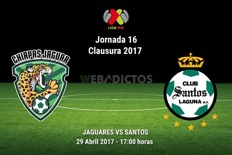 Jaguares vs Santos, Jornada 16 Clausura 2017 | Resultado: 2-2 - jaguares-vs-santos-j16-clausura-2017