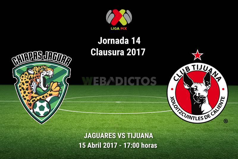 Jaguares vs Tijuana, Jornada 14 Clausura 2017 | Resultado: 1-2 - jaguares-vs-tijuana-j14-clausura-2017