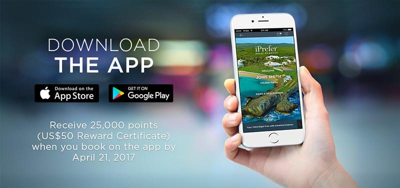 Una app y tarifas exclusivas para miembros, lo nuevo del programa iPrefer de Preferred Hotels & Resorts - preferred-hotes-app-iprefer
