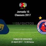Pumas vs Veracruz, Jornada 15 Clausura 2017 ¡En vivo por internet!
