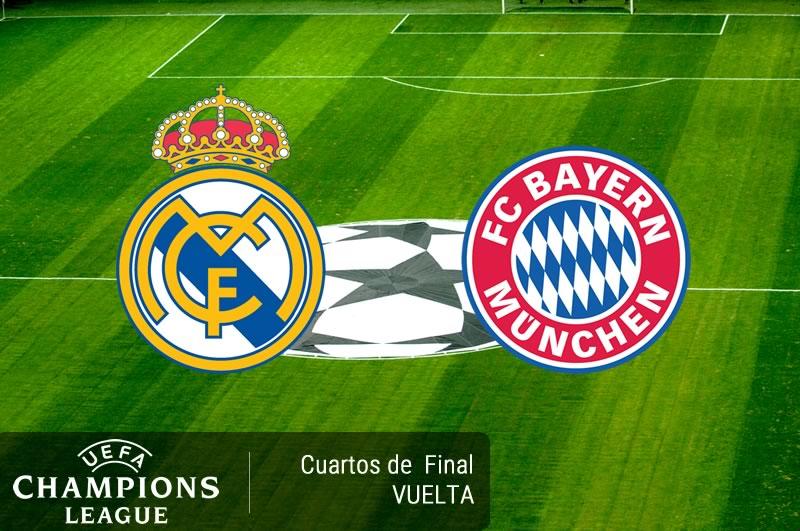 Real Madrid vs Bayern Munich, Champions 2017 ¡En vivo por internet! | Vuelta - real-madrid-vs-bayern-munich-cuartos-champions-2017