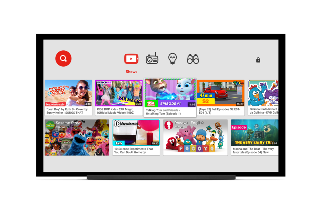 Caraota Digital: Youtube Kids estará disponible para televisores inteligentes