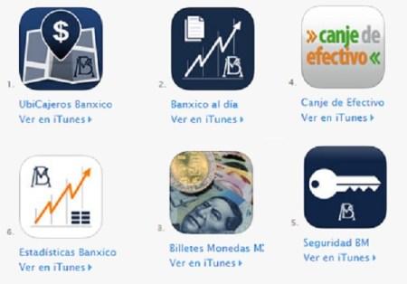 Banco de México desarrolla apps sobre servicios e indicadores económicos