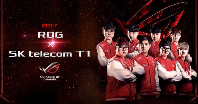 ASUS ROG se asocia con el equipo campeón del mundo de League of Legends - asus-sk-telecom-t1-800x419