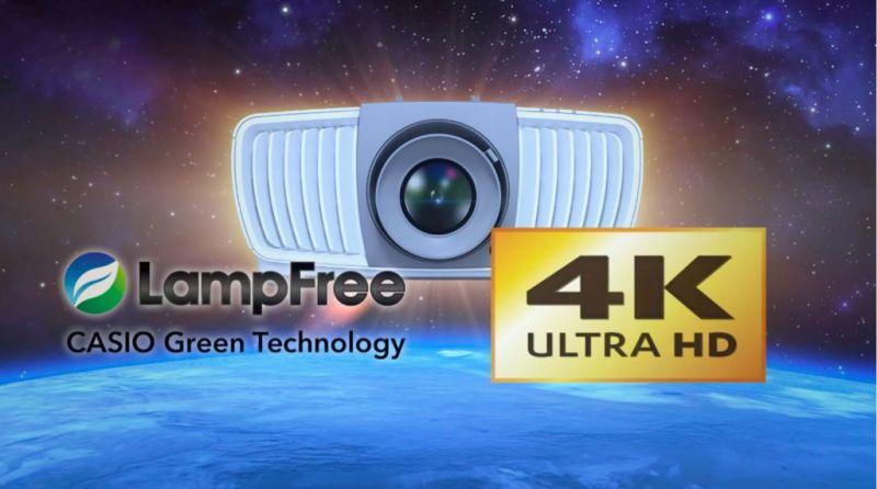 Nuevo proyector Casio de resolución 4K Ultra HD ¡Ya disponible en México! - casio-lampfree-4k-uhd-800x446