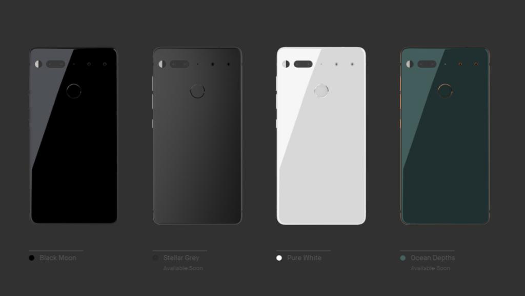 essential p colors Essential Phone: el creador de Android anuncia su propio smartphone