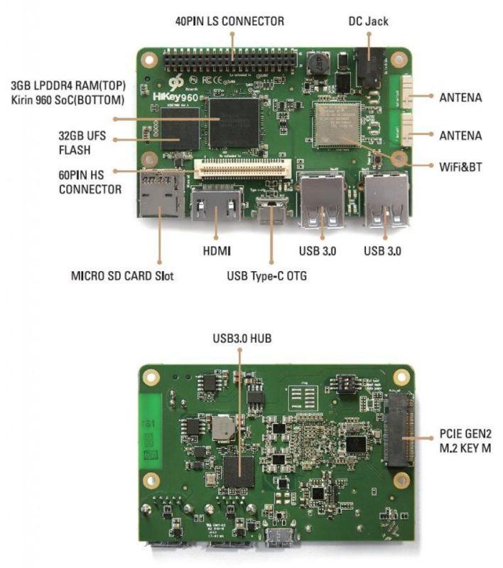 Google y Huawei crean una microcomputadora para desarrolladores Android - hikey960-906x1024-708x800