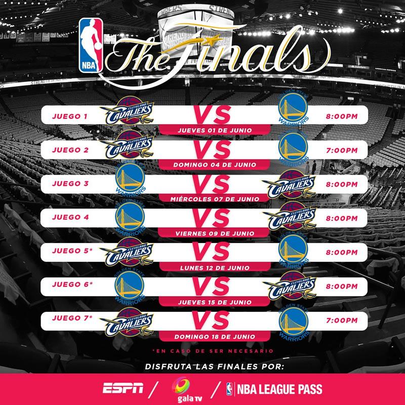 Horario de Warriors vs Cavaliers y cómo ver la Final NBA 2017 en vivo - horario-warriors-vs-cleveland-final-nba-2017