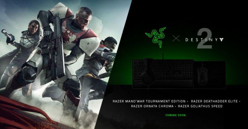 Razer lanza periféricos para Destiny 2 - razer-destiny-2-800x419