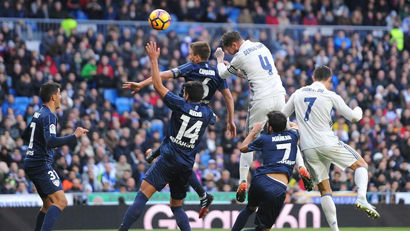 Real Madrid vs Málaga, Liga de España 2017 | Resultado: 0-2