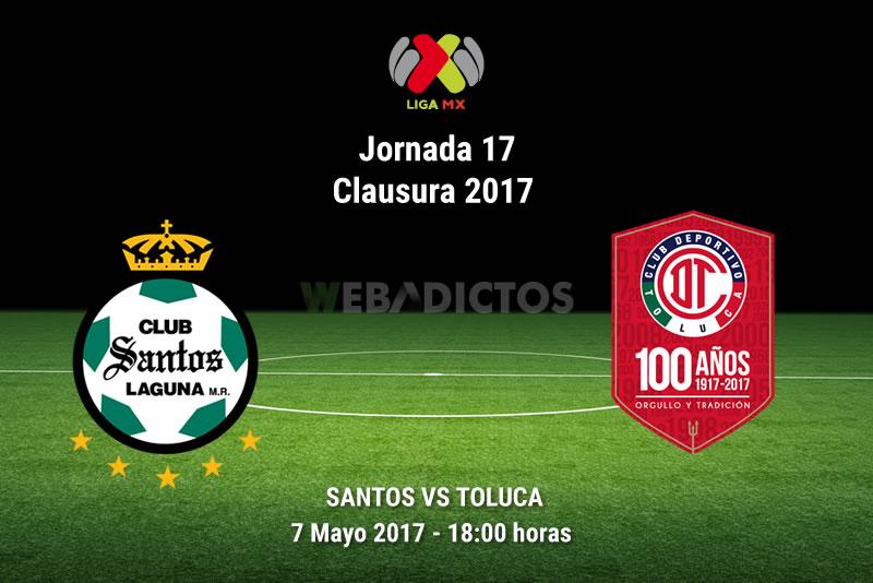 Santos vs Toluca, J17 de la Liga MX Clausura 2017 | Resultado: 2-2 - santos-vs-toluca-j17-clausura-2017
