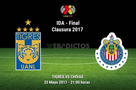 Tigres vs Chivas, Final de la Liga MX C2017 ¡En vivo por internet! | ida