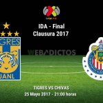 Tigres vs Chivas, Final de la Liga MX C2017 ¡En vivo por internet! | ida