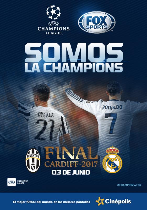 Final de la Champions 2017: Real Madrid vs Juventus en vivo por Cinépolis - uefa-champions-league-561x800