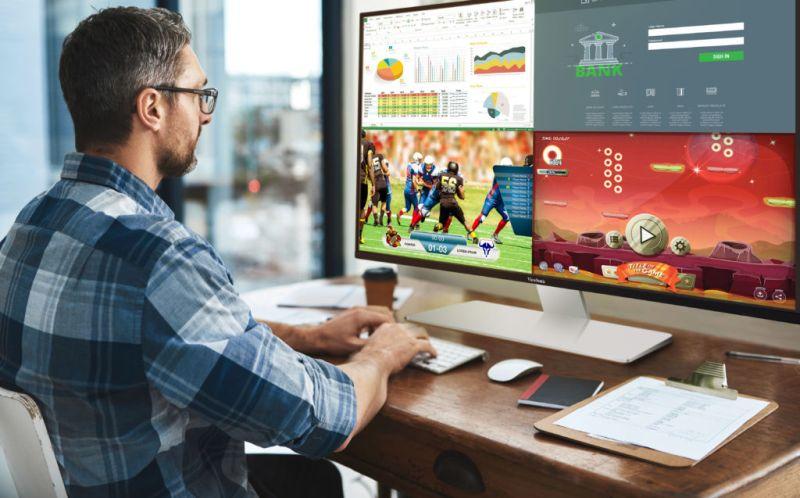 Nueva pantalla de 43 pulgadas 4K ViewSonic con función de multitareas - vx4380-4k_edicion-video-800x498