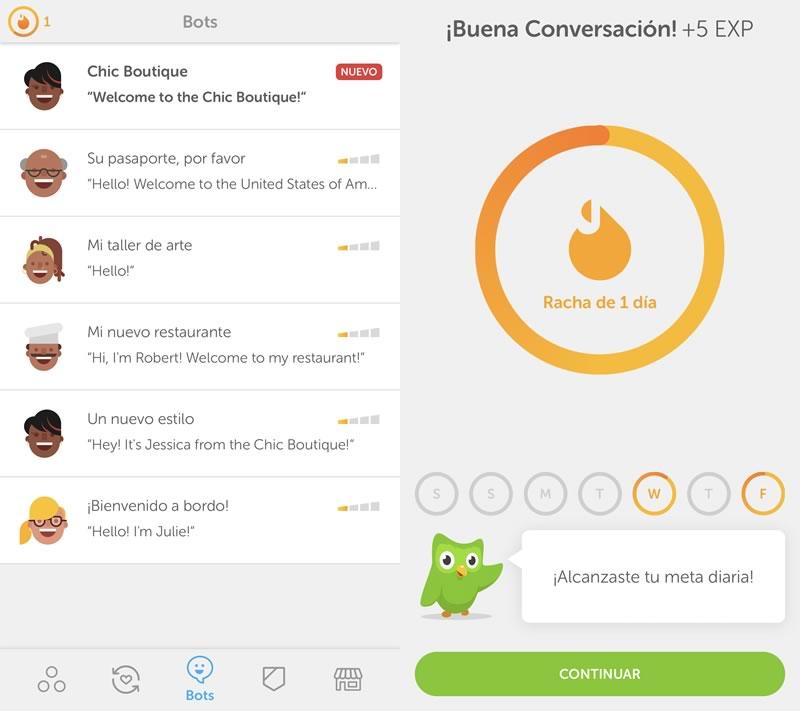 Duolingo lanza sus chatbots para practicar inglés - bot-practicar-conversacion-ingles